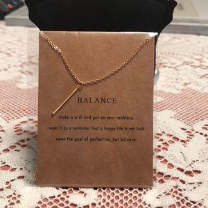 Jewelry - 🆕Balance bar necklace